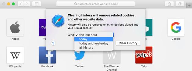 SafariでCookieをクリアする方法