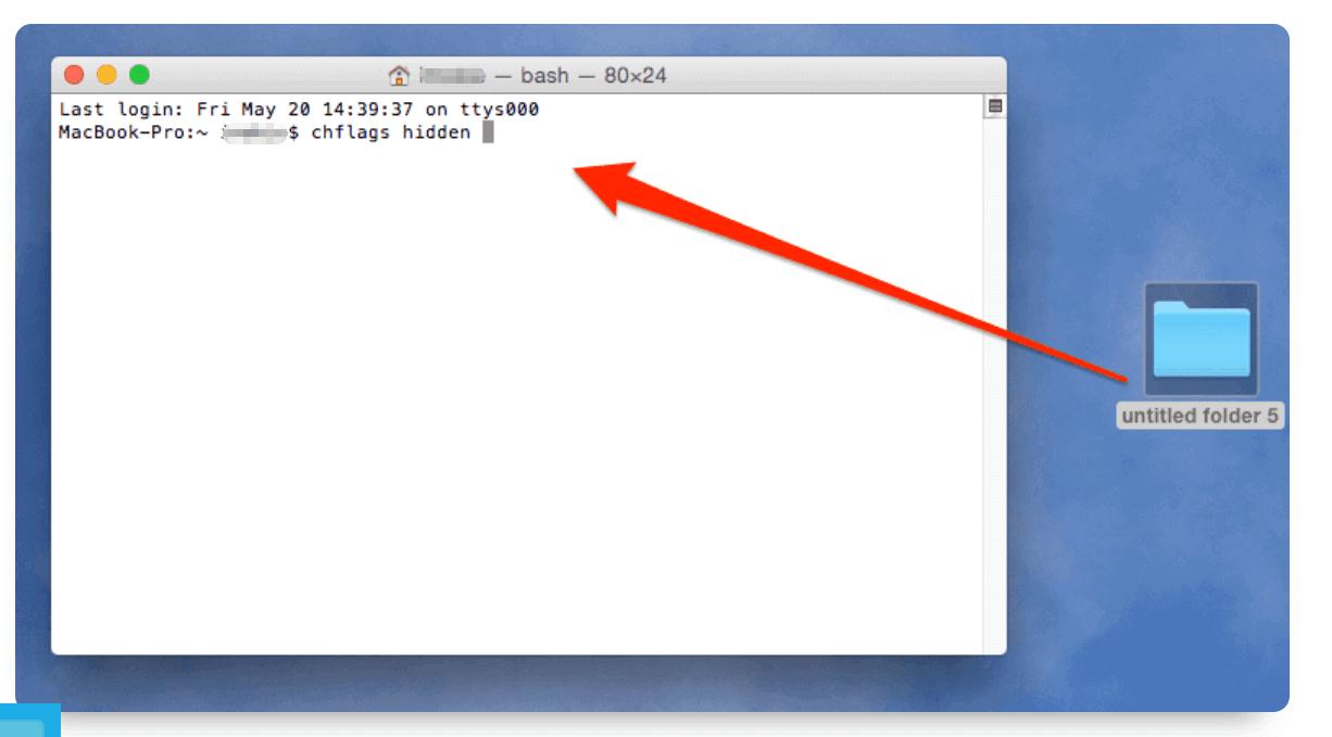 端末を使ってMac上のファイルを隠す