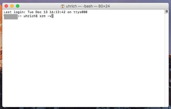 El Capitan以降のファイルを安全に削除する