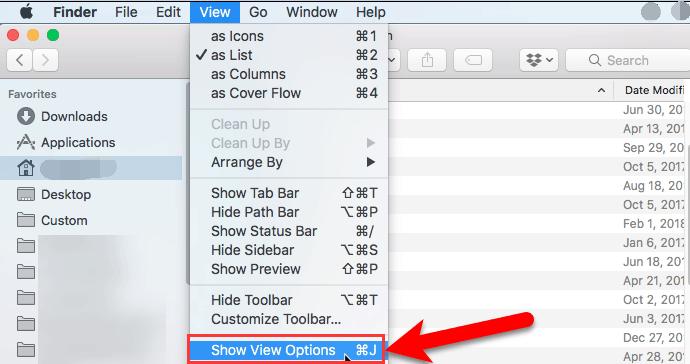 Finderアプリケーションでカテゴリを表示するための列サイズのアタッチ