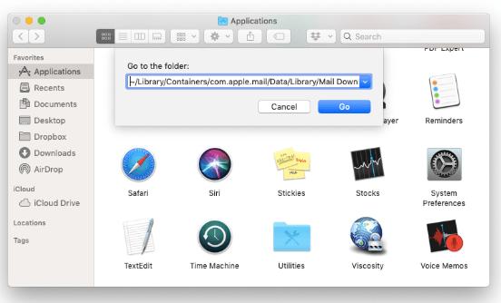 FinderでMac Mailの添付ファイルを手動で削除する