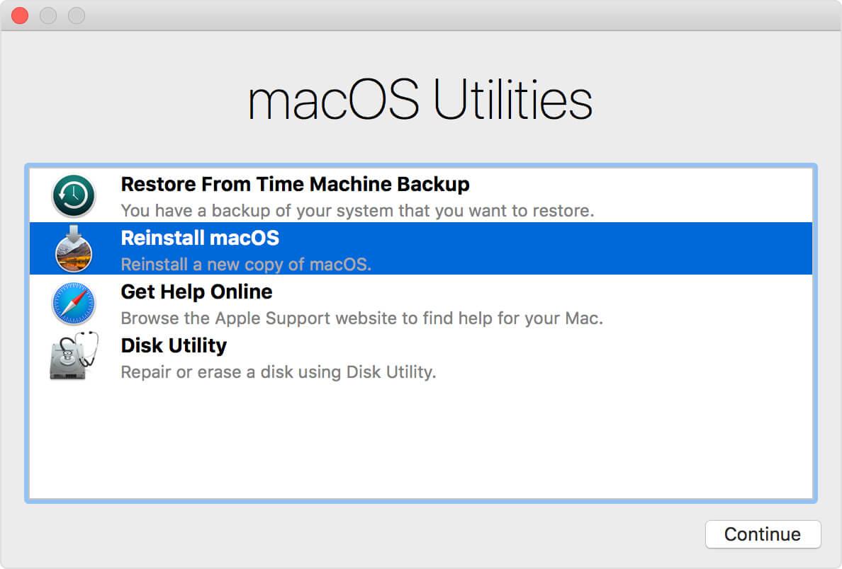 Mac OSを再インストールする