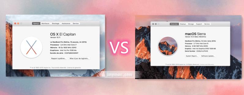 El Capitan vs macOSSierra