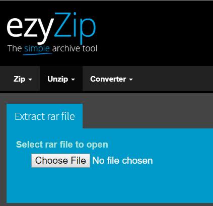 MacでezyZipを使用してRARファイルを開く