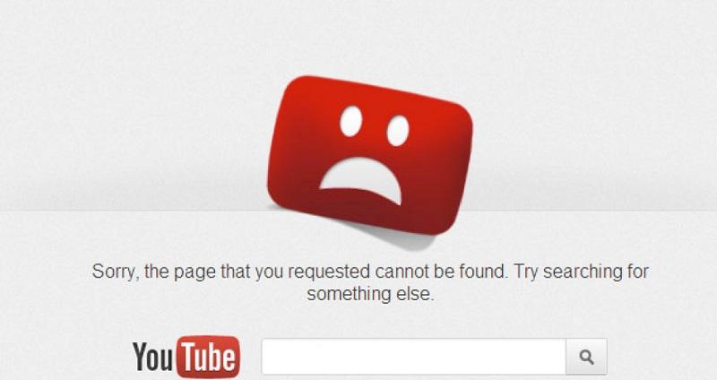 YouTubeが機能しない