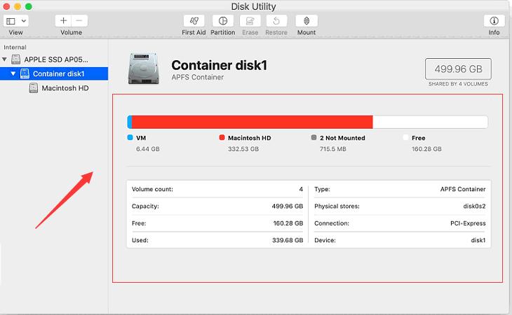 ディスクをチェックアウトして、何が領域を占有しているかを確認し、ファイルを見つけます