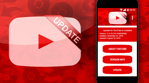 YouTubeアプリを更新する