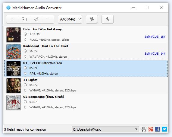 オーディオコンバーターを使用してM4AをMP3に変換する